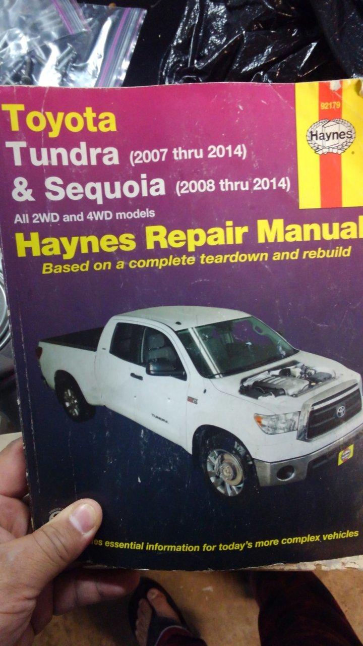 chilton or haynes toyota tundra forum rh tundras com Toyota Tundra Towing Toyota Tundra Towing