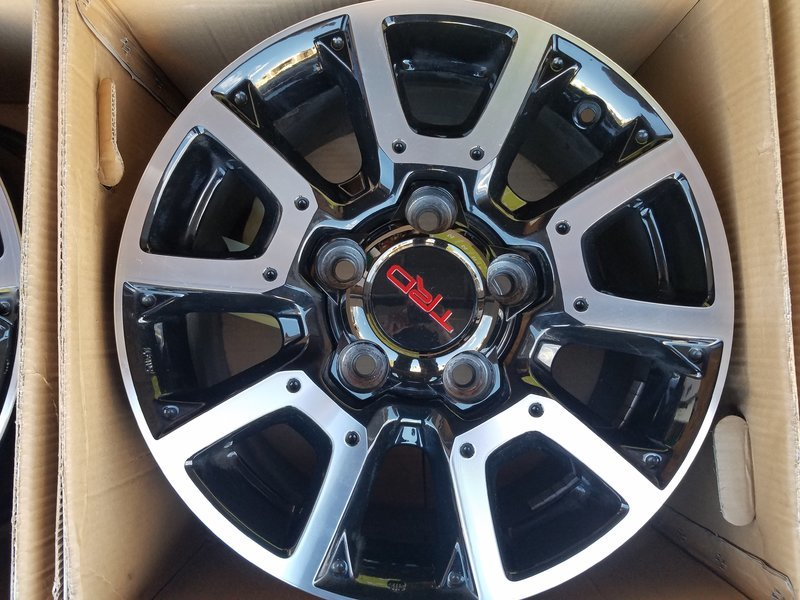 Trd Offroad Wheels With Trd Pro Center Caps Sold Toyota