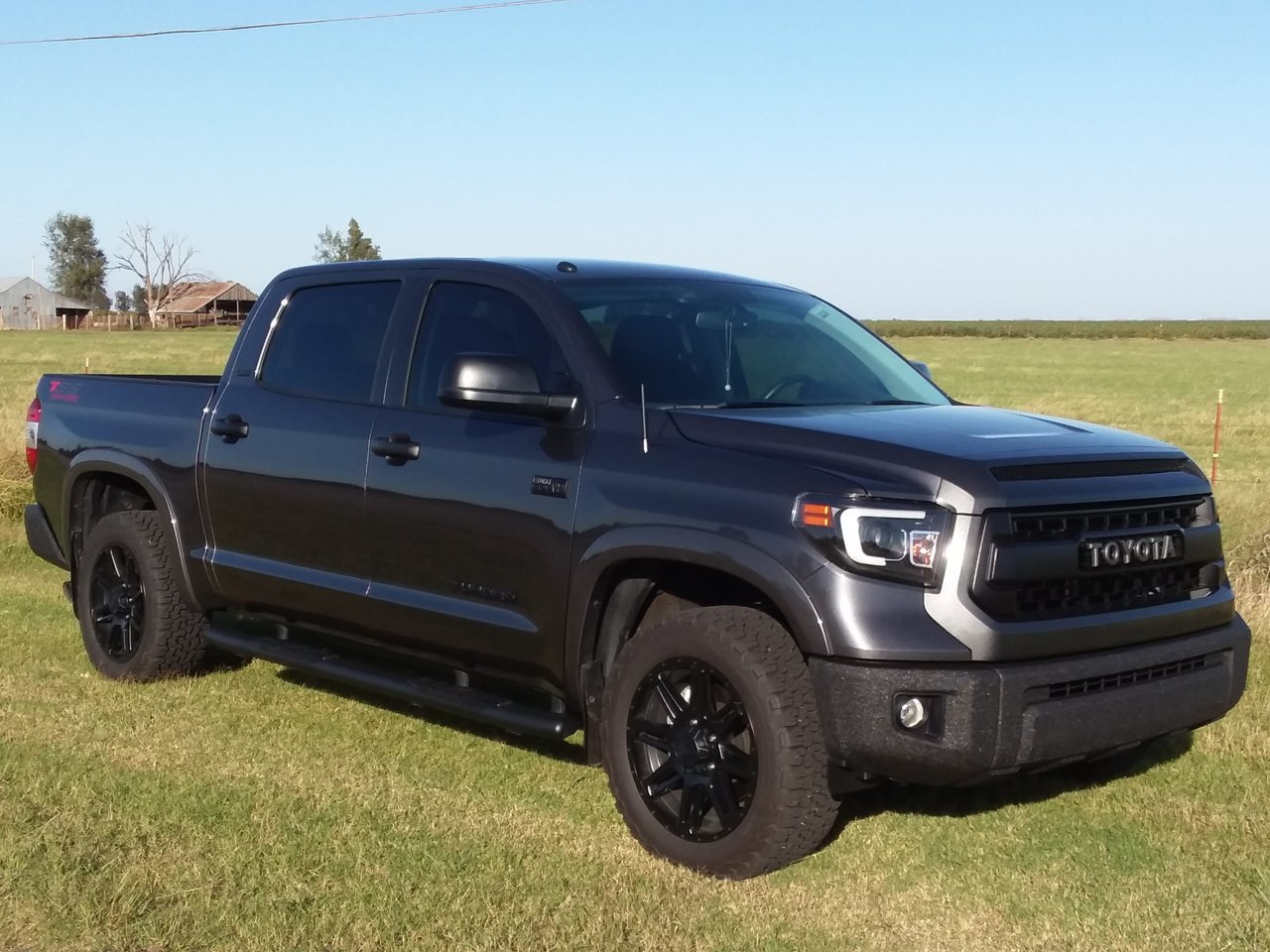 Spray Bedliner Over Chrome On Stock Bumpers Toyota Tundra