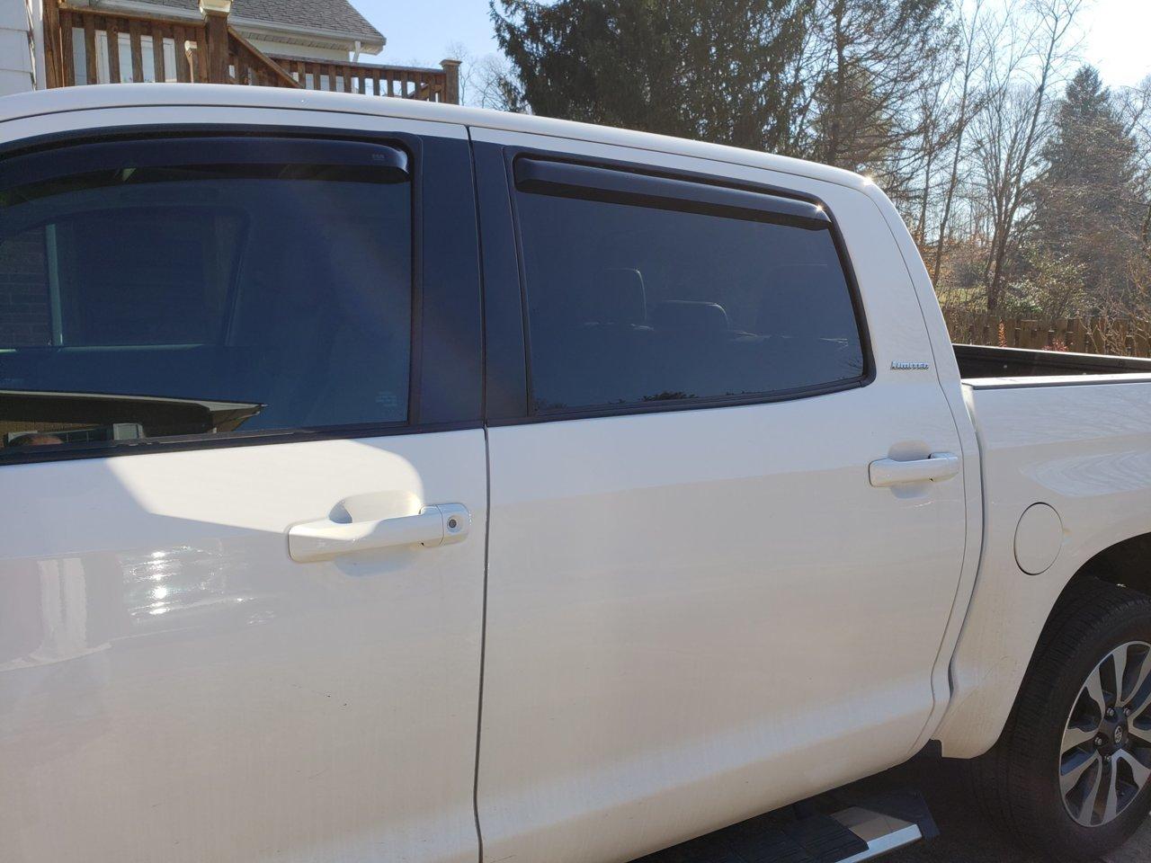 For 2014-2020 Tundra Crewmax Window Vent Visors Deflectors Vent Rain Guard Shade