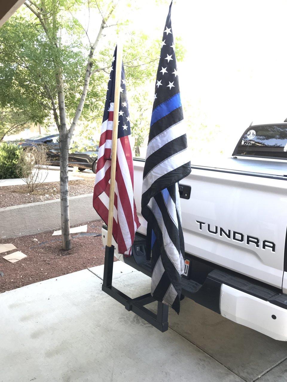 Hitch Mounted Flag Pole Holder 30 00 Toyota Tundra Forum