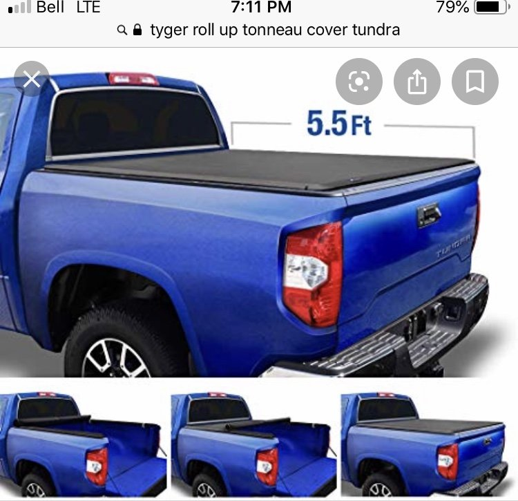Premium Truck Bed 5 Ft Tonneau Cover Soft Roll Up Leather Fits Toyota Tacoma Sr5