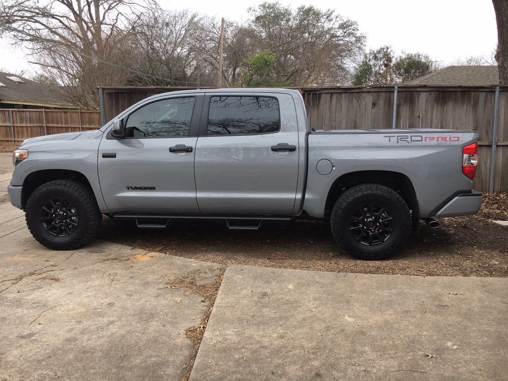 my experience with largest tires on stock trd pro setup toyota tundra forum. Black Bedroom Furniture Sets. Home Design Ideas