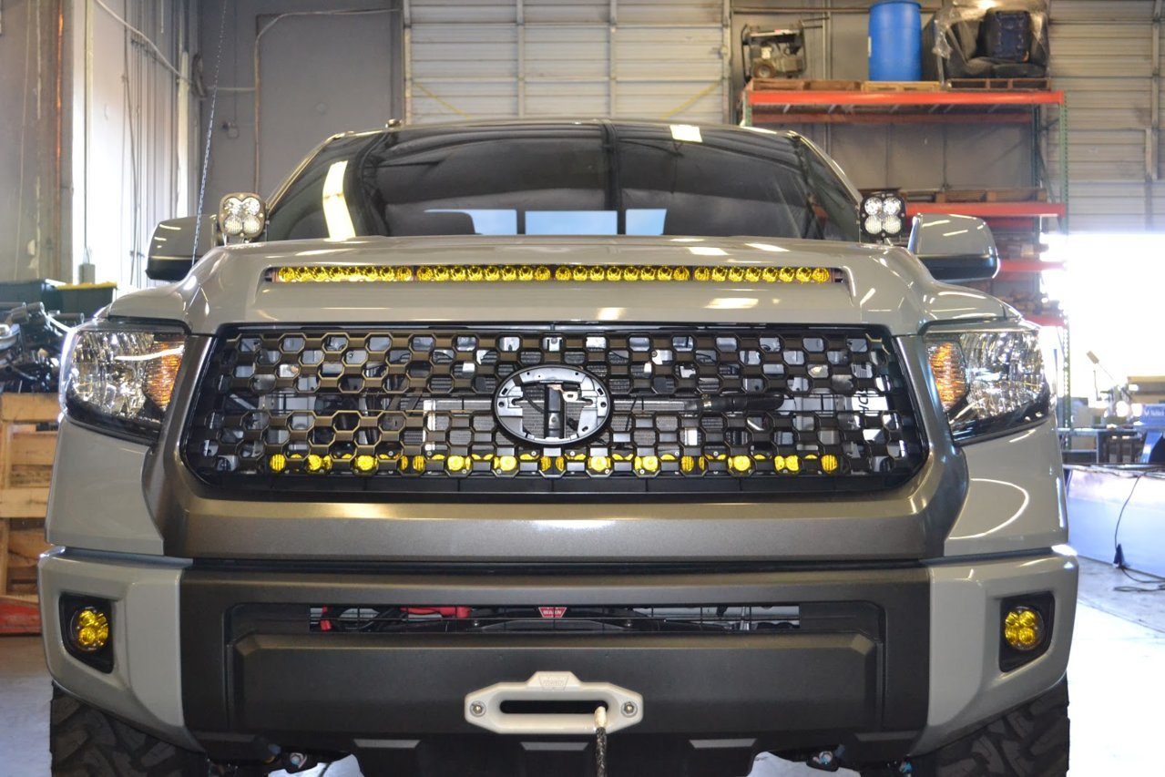 1794 Toyota Tundra >> SDHQ's 2014+ Tundra Behind The Grille LED Light Bar Mount ...