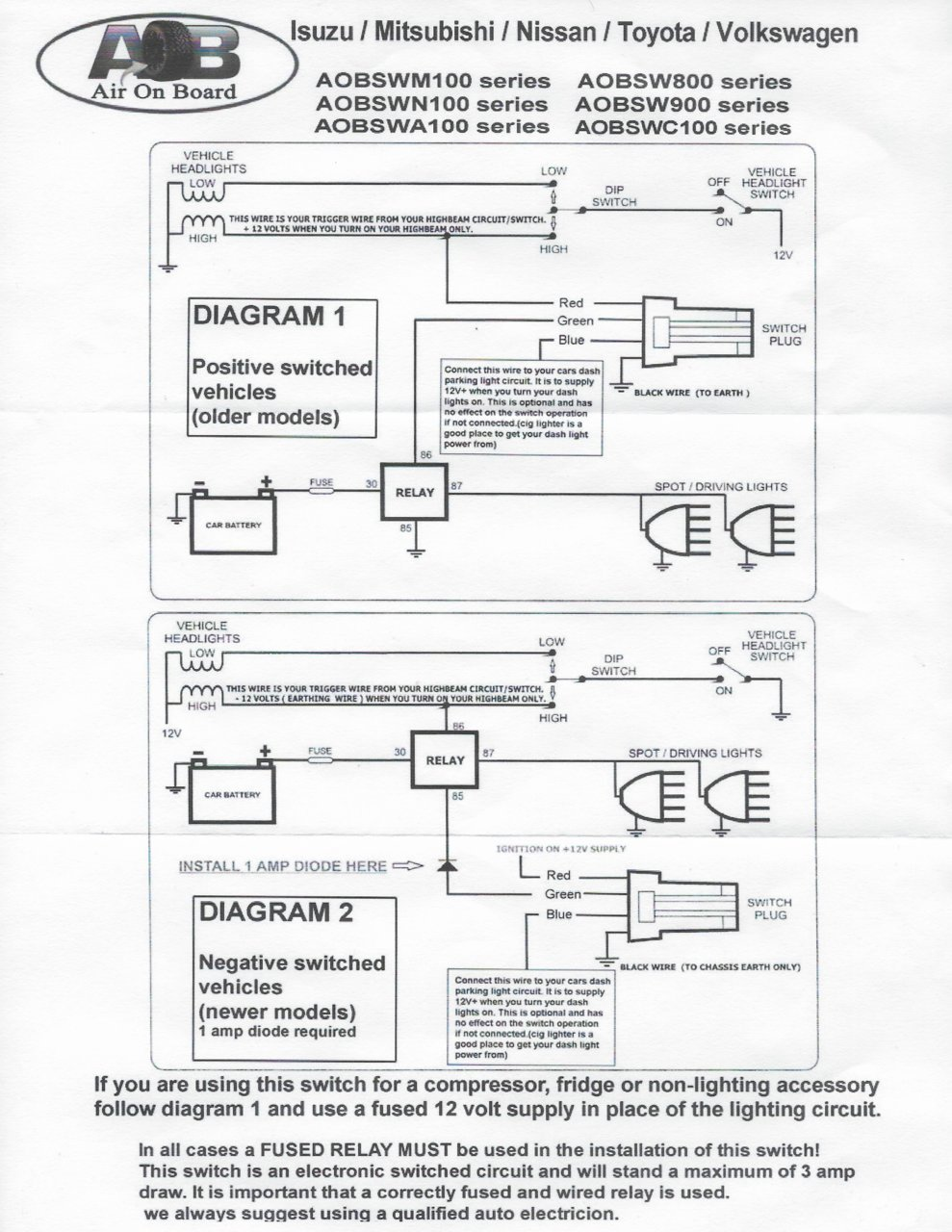 Air Switch Wiring Diagram