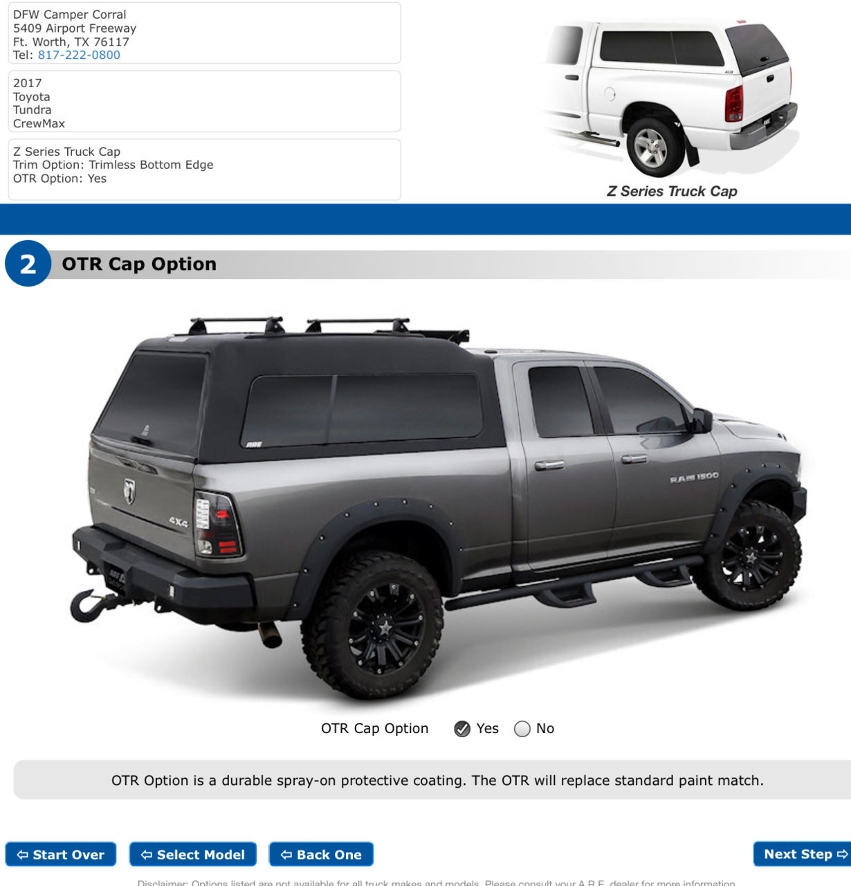 ARE Z Series with OTR option? | Toyota Tundra Forum