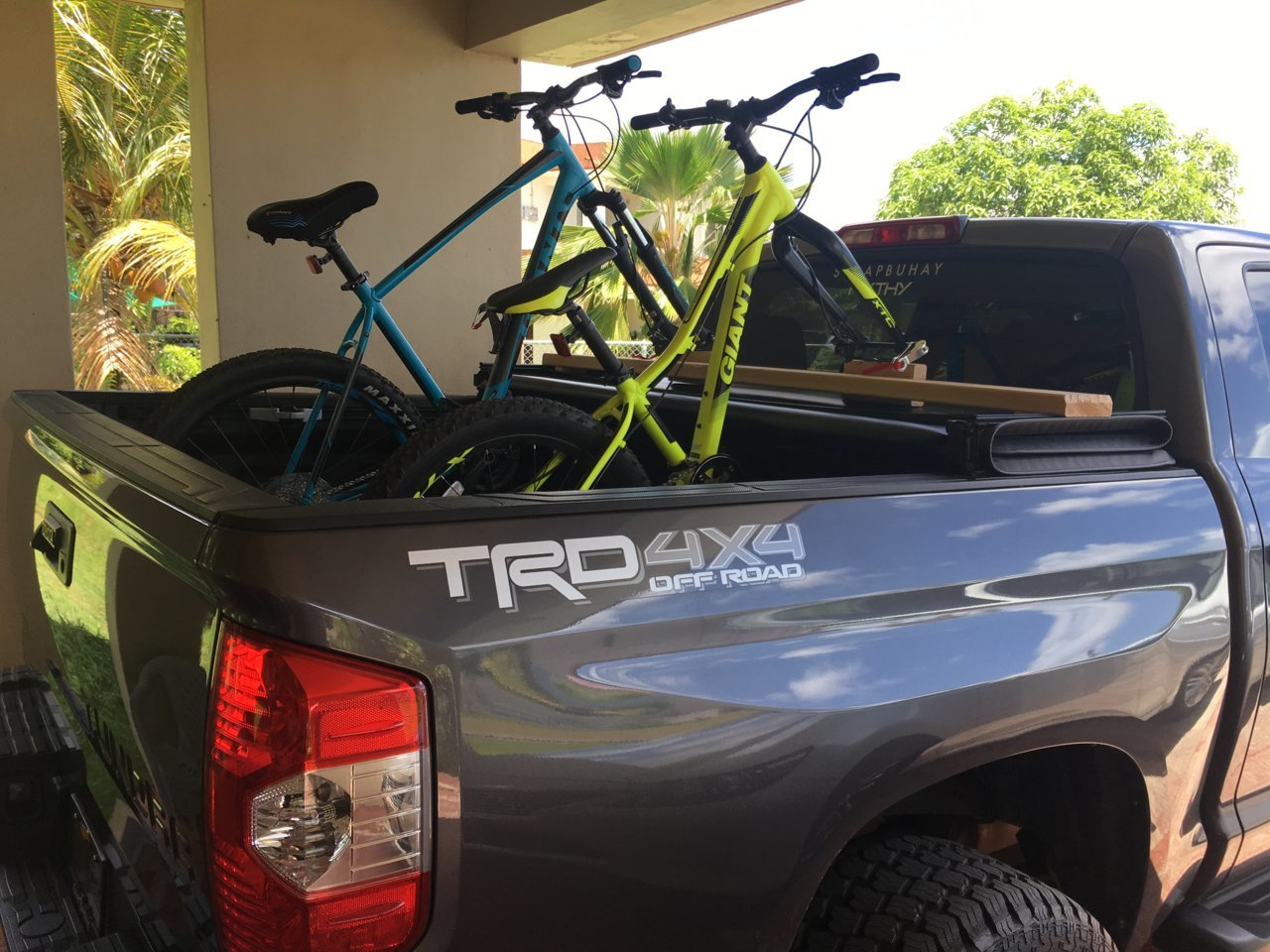 Bike Mount With Folded Tonneau Cover Toyota Tundra Forum