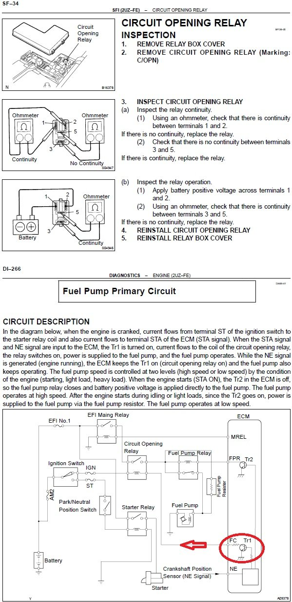 No Voltage Energizing C Op Relay Fuel Pump System Toyota Tundra Forum