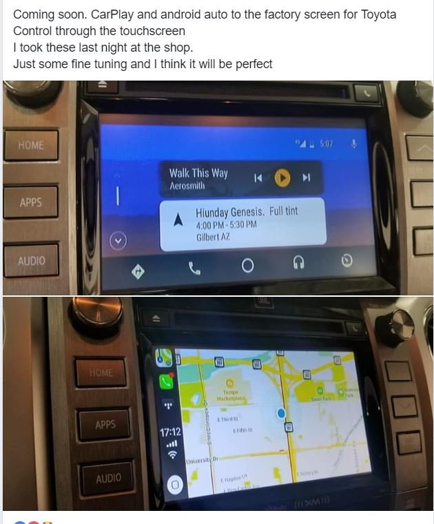 CarPlay and AndroidAuto for 2014+ OEM Headunits? Looking like it