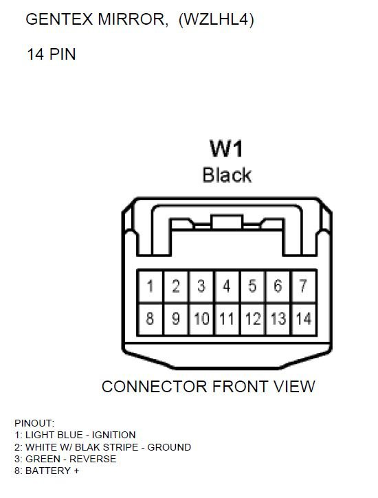 2012 Gentex Mirror Wiring Diagram