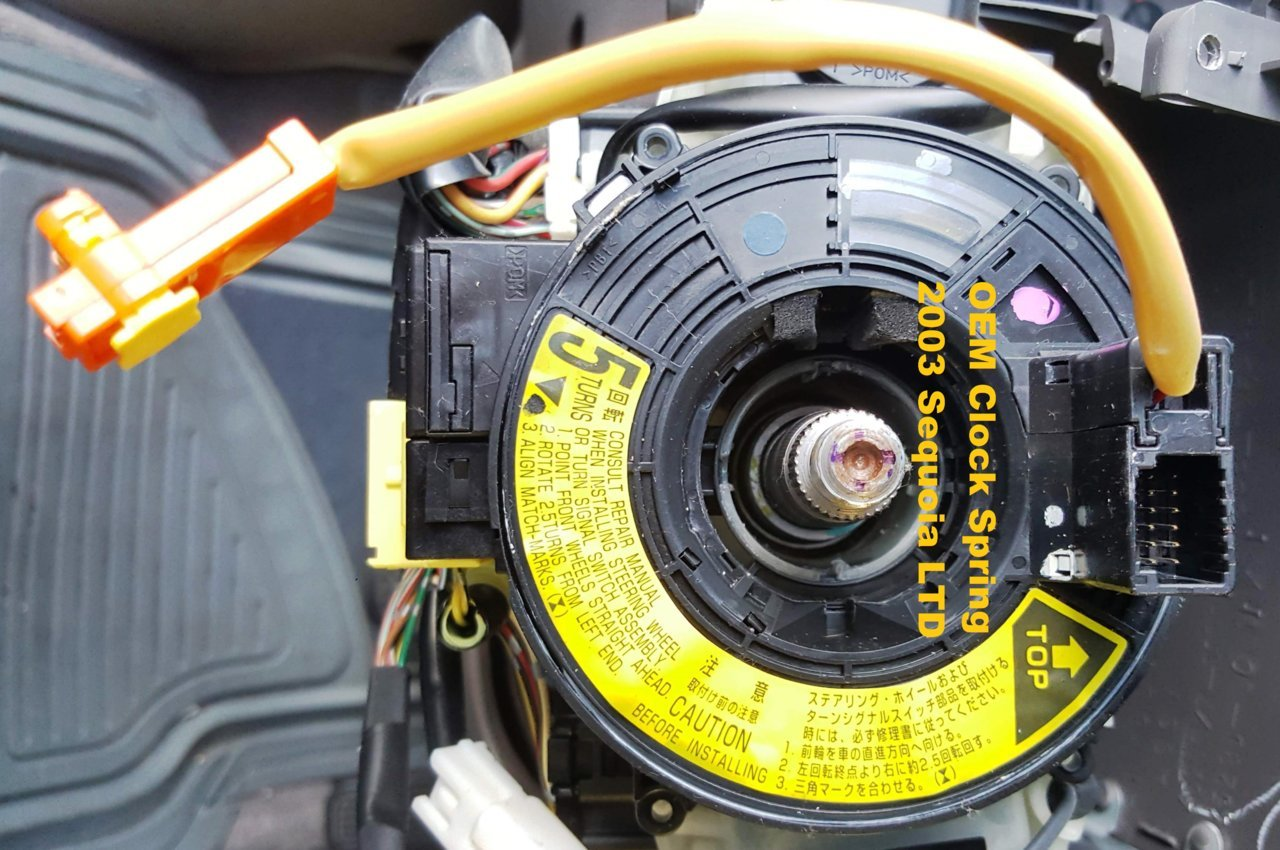 2007-2013 TOYOTA TUNDRA CLOCK SPRING WITH FUNCTIONS ON WHEEL NEW!