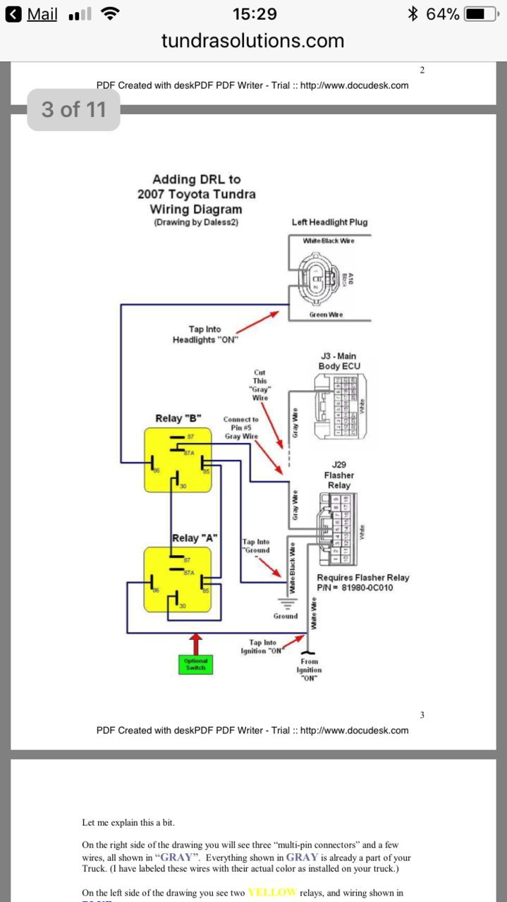 2010 Toyota Tundra Headlight Wiring Diagram
