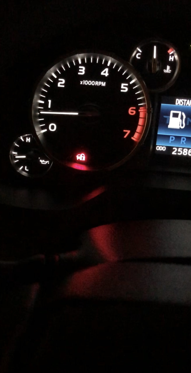 Theft light flashing while driving   Toyota Tundra Forum