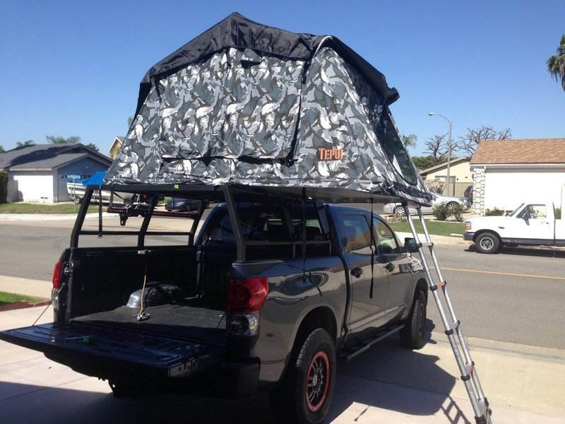 I put a rooftop tent on my rack. : tundra tent - memphite.com