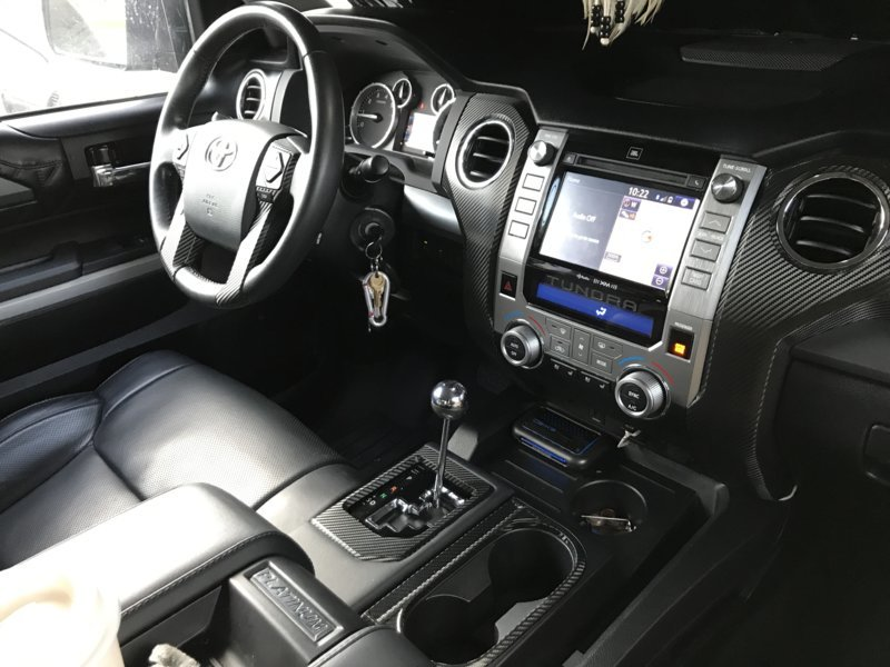 Carbon Fiber Wrapped Interior Pieces Toyota Tundra Forum