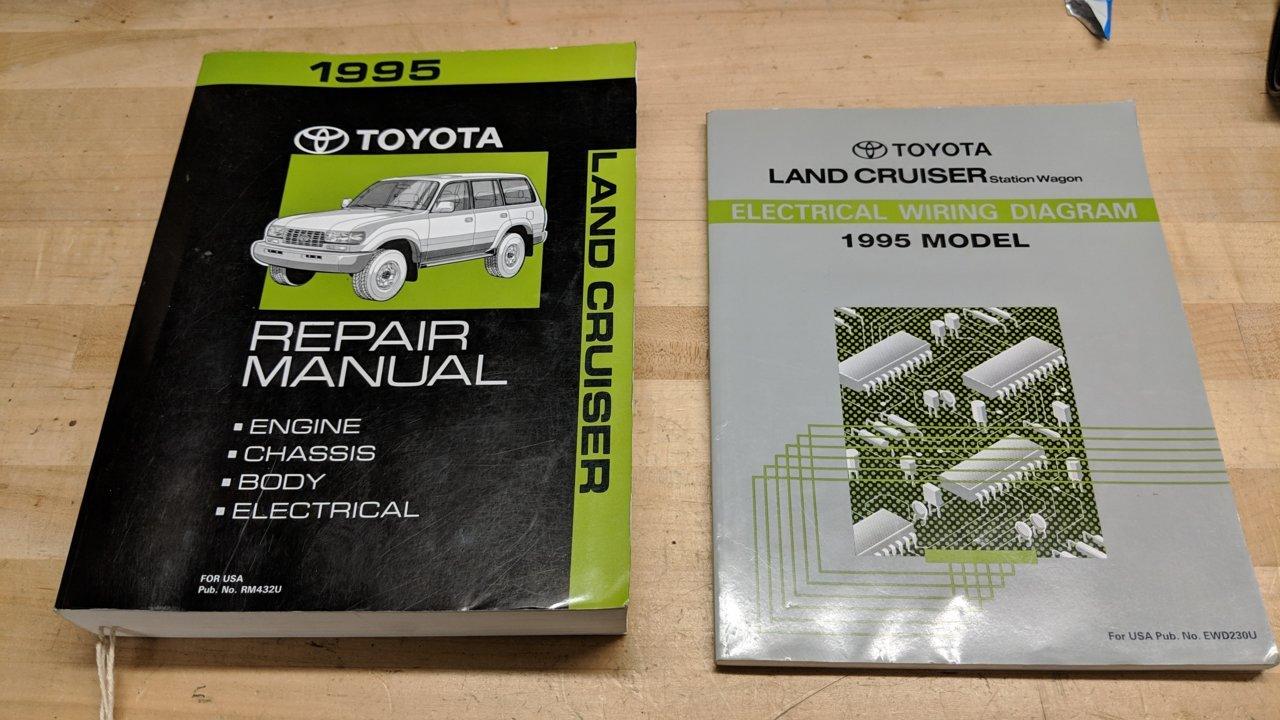 No Longer Available  1995 Land Cruiser Oem Repair Manuals