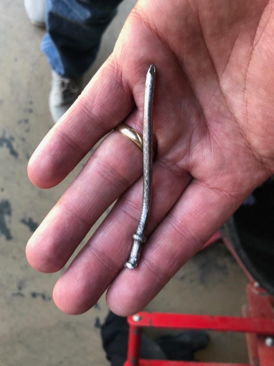 nail in the tire and destroyed sensor | Toyota Tundra Forum