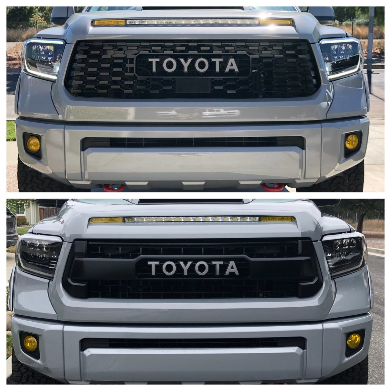 2019 Trd Pro Grille Insert Swap Before And After Toyota Tundra Forum
