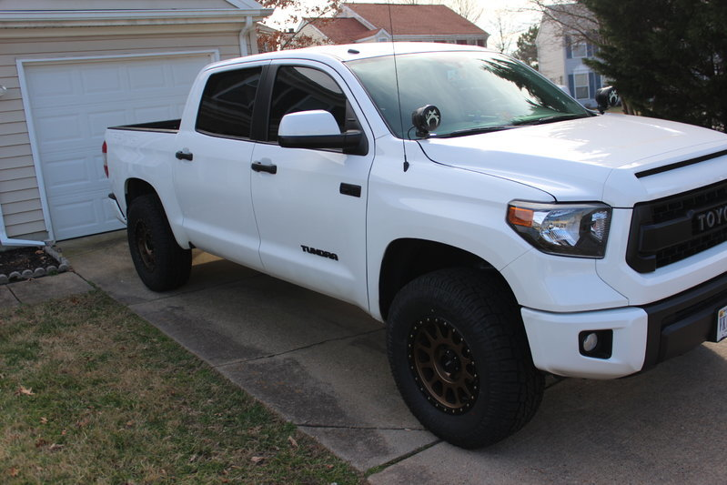 Bronze methods on white TRD Pro | Toyota Tundra Forum