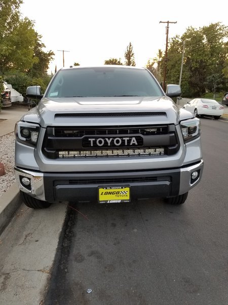 Who has mounted a lightbar behind your grille toyota tundra forum just like wilbur said this was a 40 light bar i installed took about 40 minutes aloadofball Images