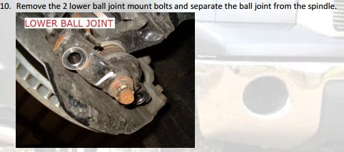 Remove the 2 lower ball joint mount bolts and separate the ball joint from the spindle.jpg