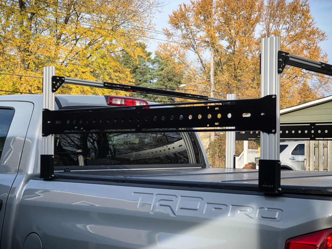 Cargo Rack With A Hard Top Retractable Tonneau Toyota