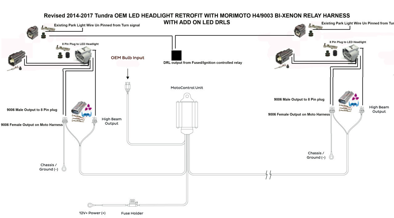 2018 Tundra Led Headlight Wiring Info With Diagrams Page 2 Drl Switch Last