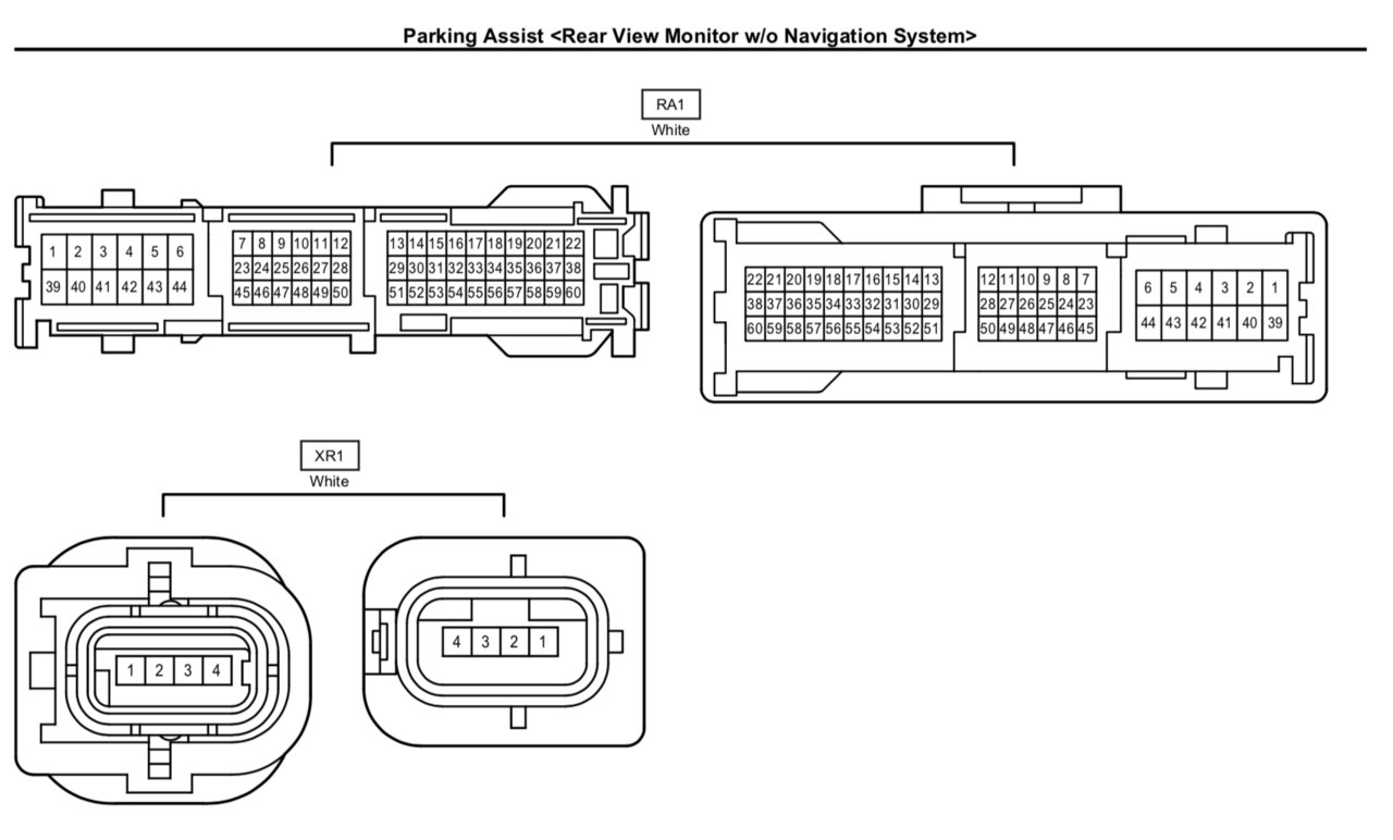toyota tundra backup camera wiring diagram  toyota  auto