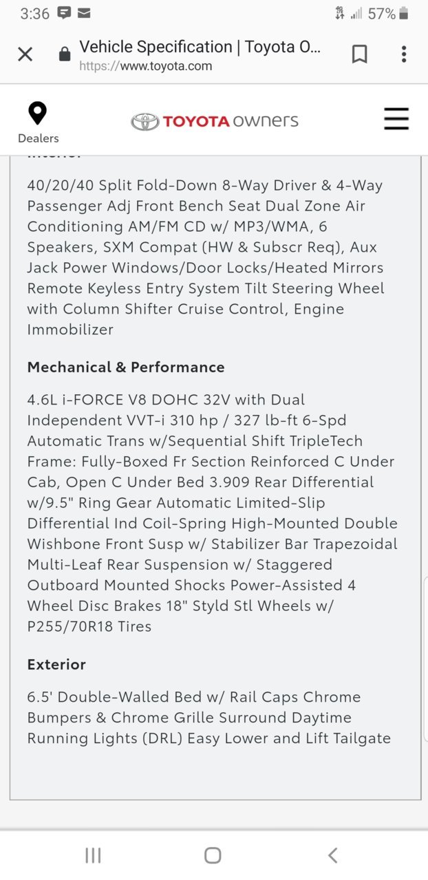 What's in your rear end?   Toyota Tundra Forum