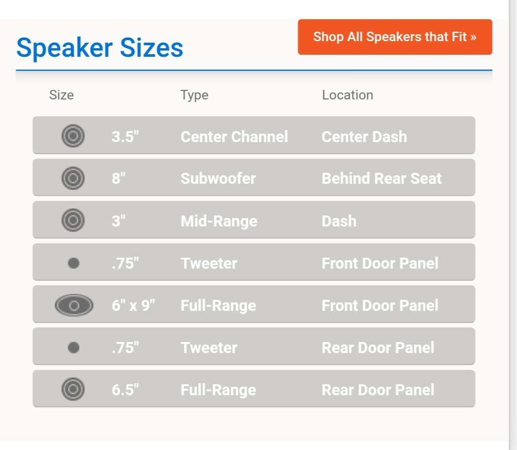 Factory speaker sizes  Toyota Tundra Forum