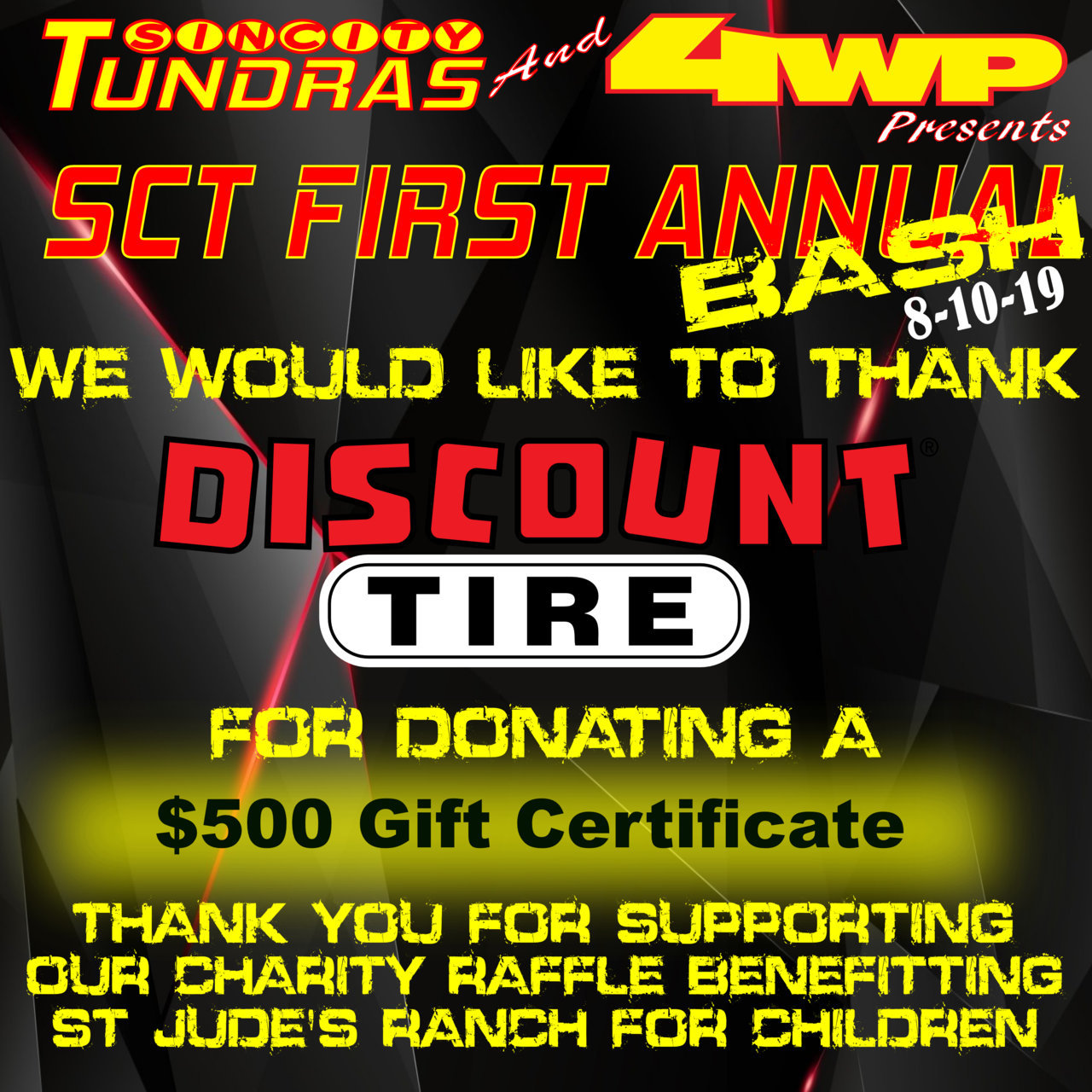 SCT First Annual Bash Coroporate Sponsor Discount Tire.jpg