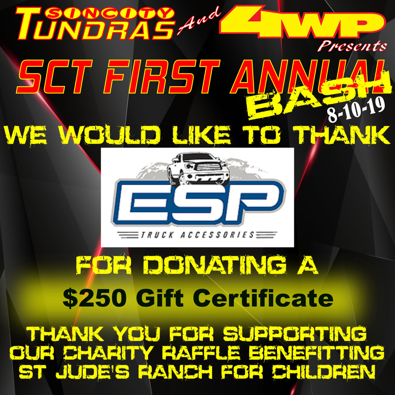 SCT First Annual Bash Coroporate Sponsor ESP Truck.jpg