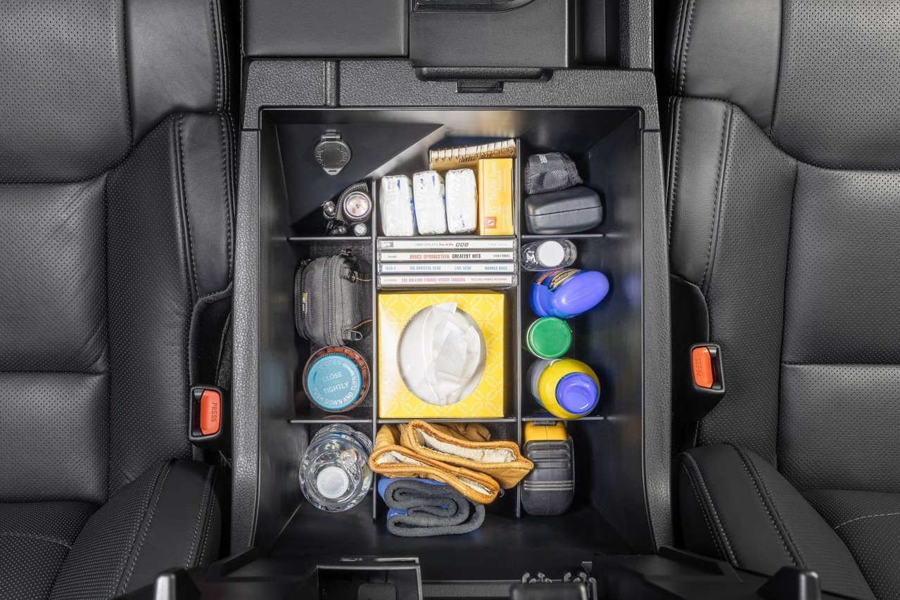SLX103 Vehicle OCD Toyota Tundra center console organizer full 4 piece top view EBC.jpg