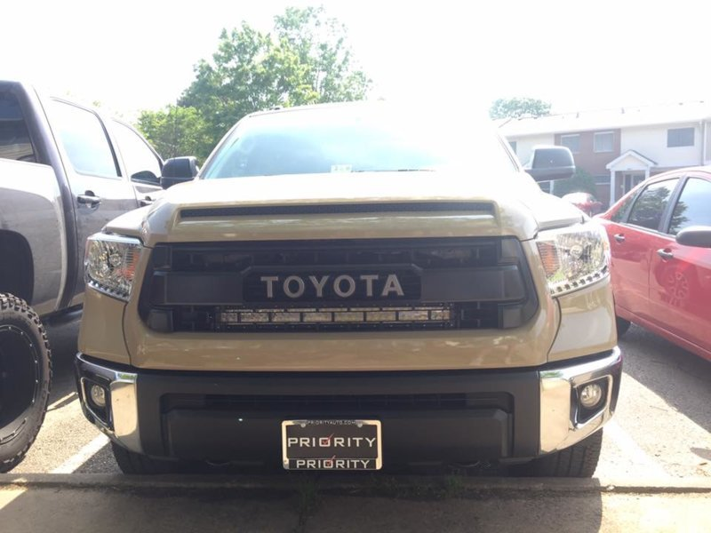 New TRD Pro grill and 32 Inch light bar installed ...