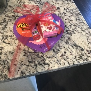 Wife left me candy :-)
