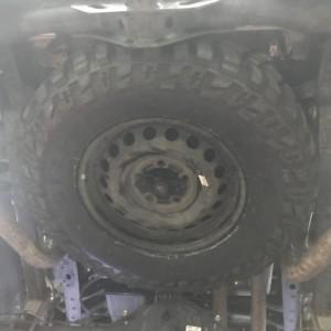 Tire is in.