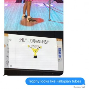 Wife sent me text that my daughter won at bowling in bday party