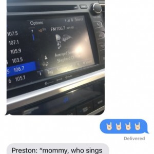 OMG I love him so much!! Such a daddys boy! We play the who sings this song? Almost daily as I take him to daycare.